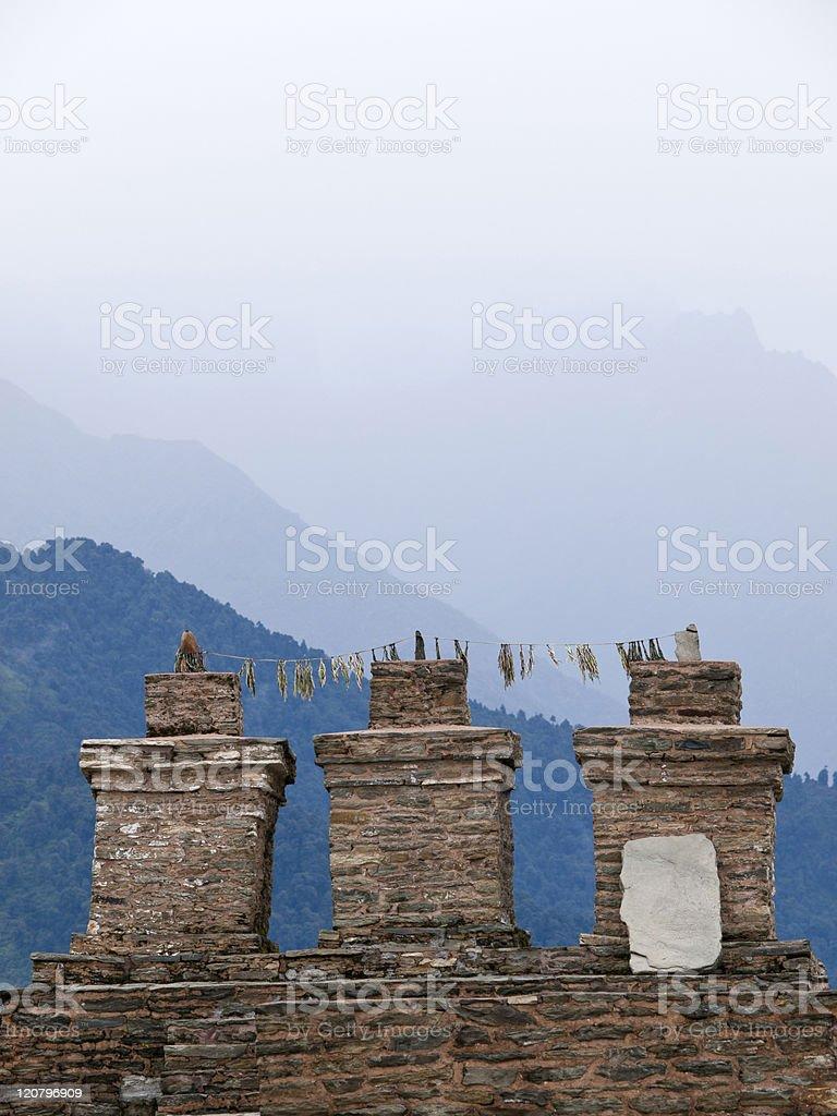 Sikkims ancient capitol Rabdentse stock photo