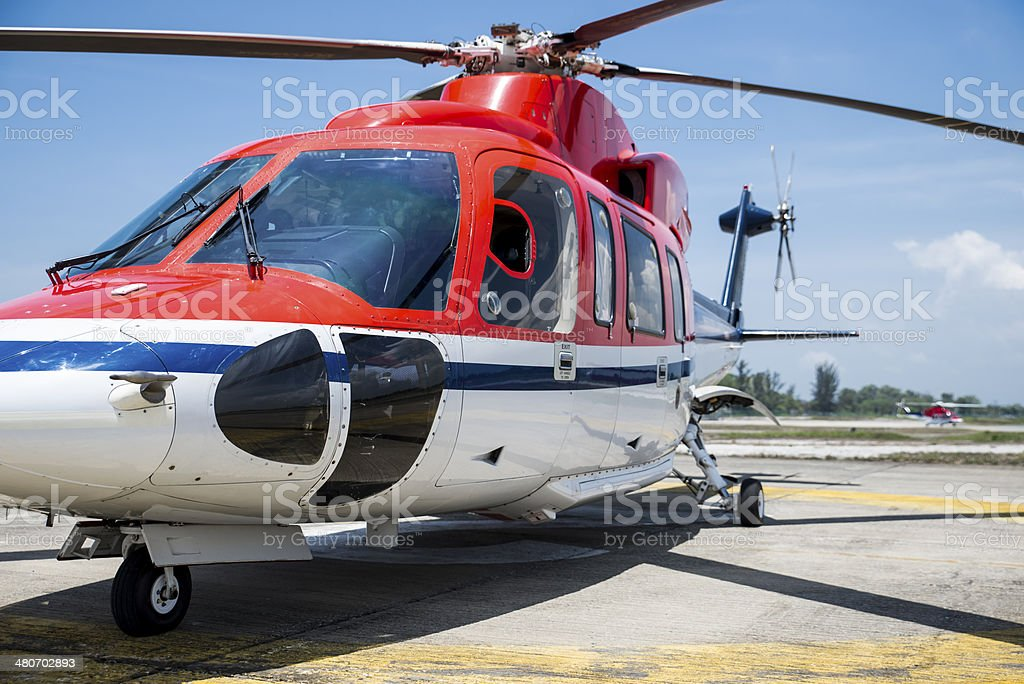 Sikorsky S-76 Corporate Helicopter stock photo