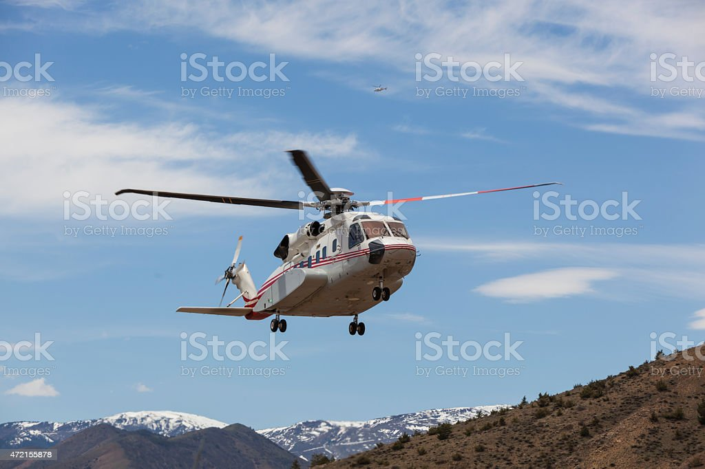 Sikorsky S-92 Helicopter stock photo