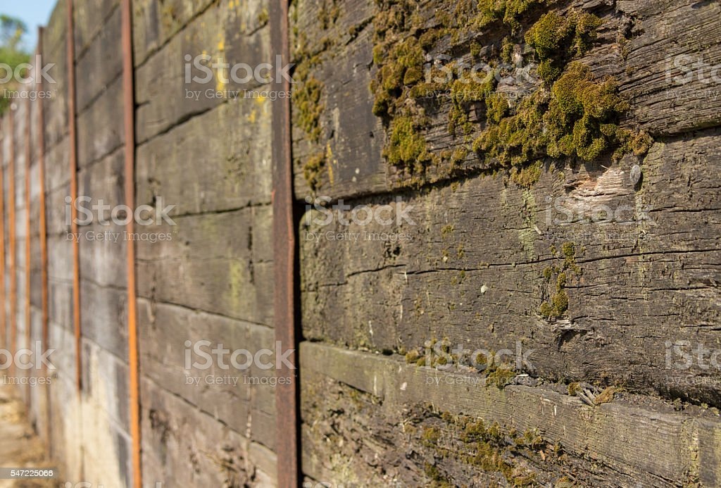 Silage pit wall stock photo