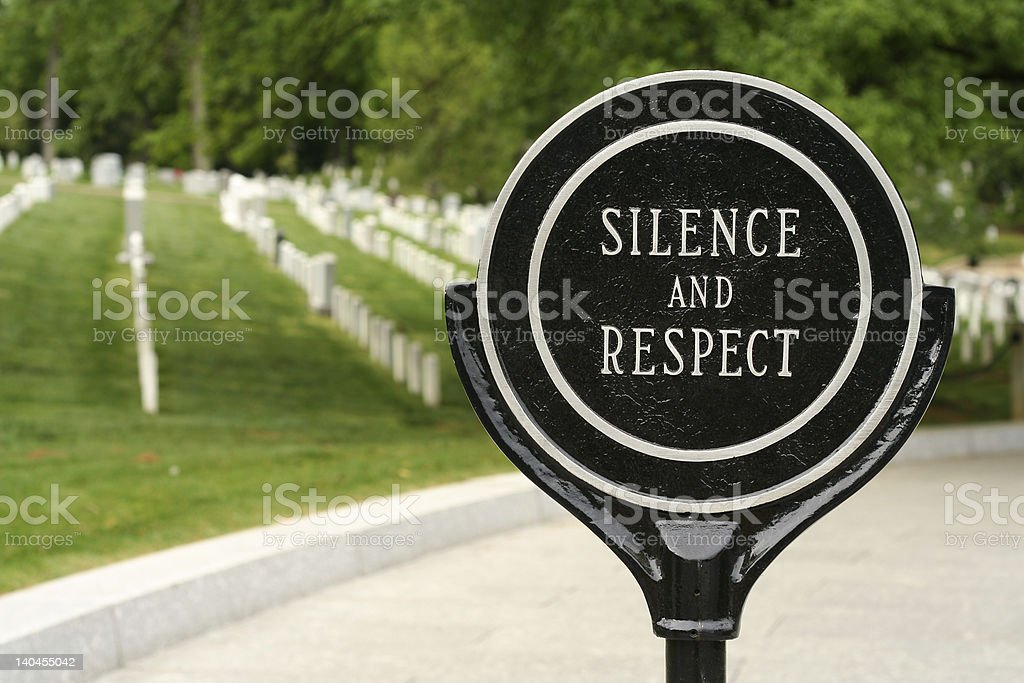 Silence and Respect royalty-free stock photo