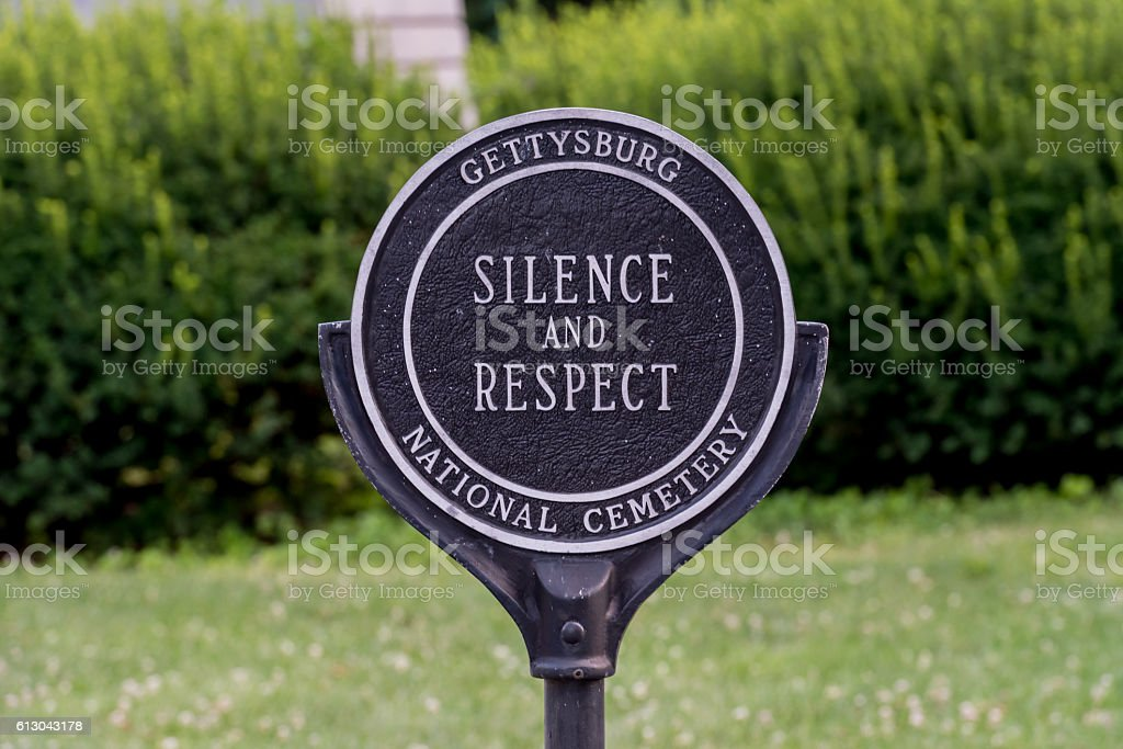 Silence and Respect Sign stock photo