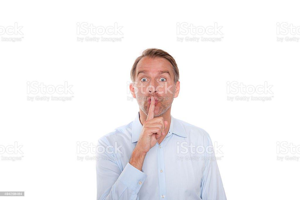 silence, don´t speak stock photo