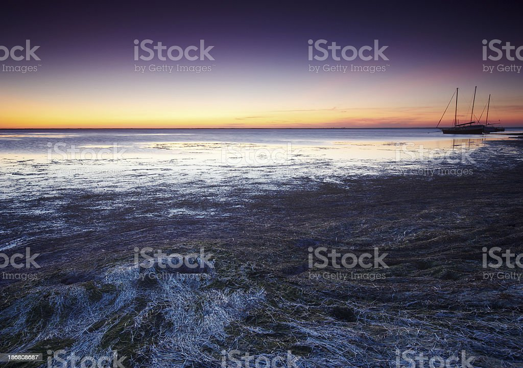 silence in the bay royalty-free stock photo