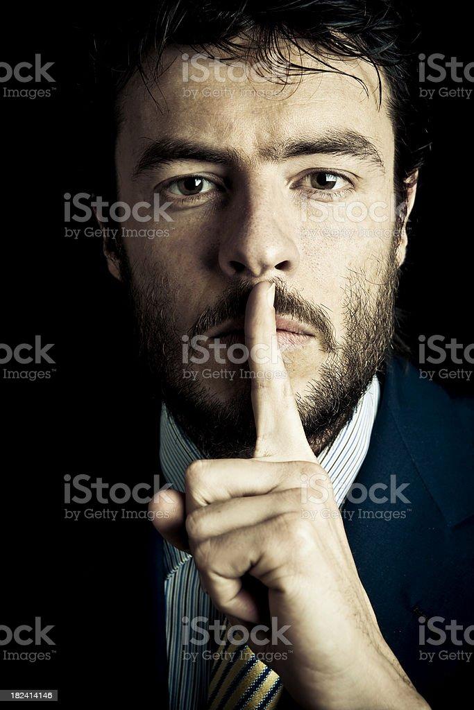 Silence Nobody Talk royalty-free stock photo