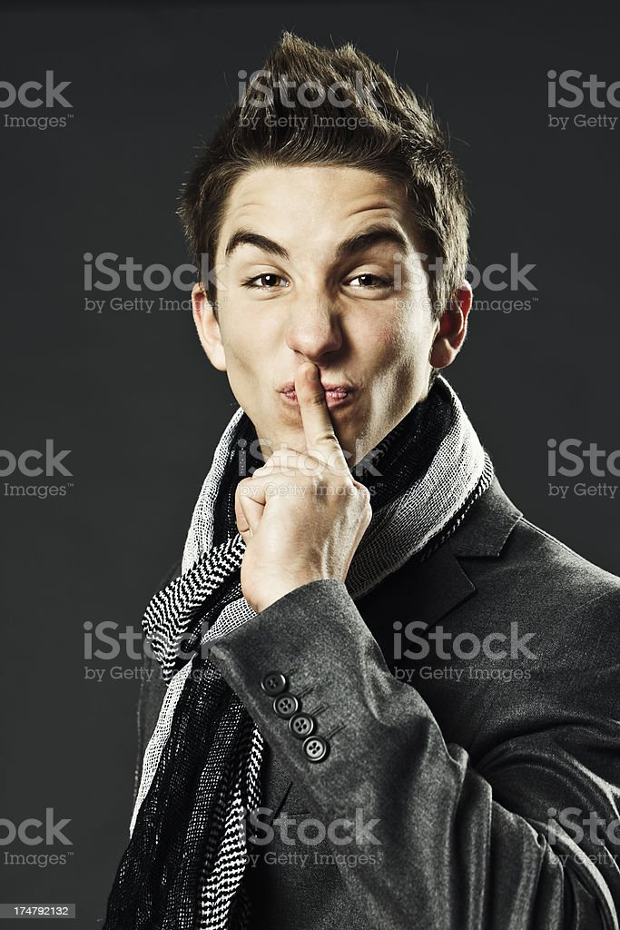 Silence royalty-free stock photo