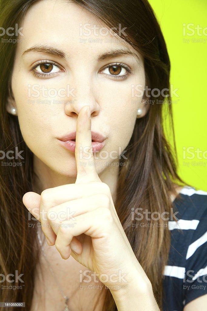 Silence, please royalty-free stock photo