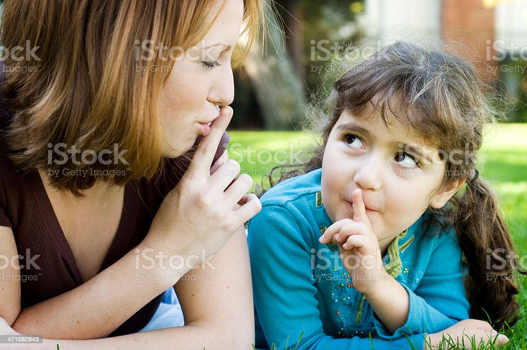 Silence, please (series) royalty-free stock photo