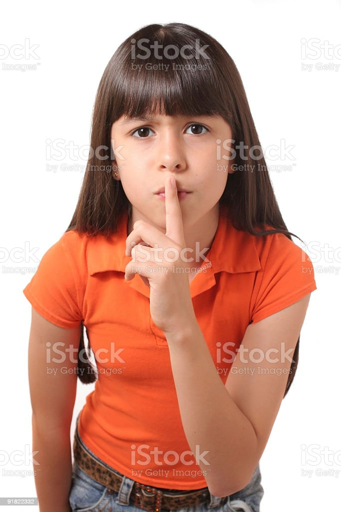 Silence Please stock photo