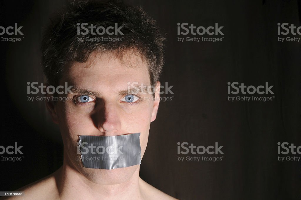 Silenced 2 (Colour) royalty-free stock photo