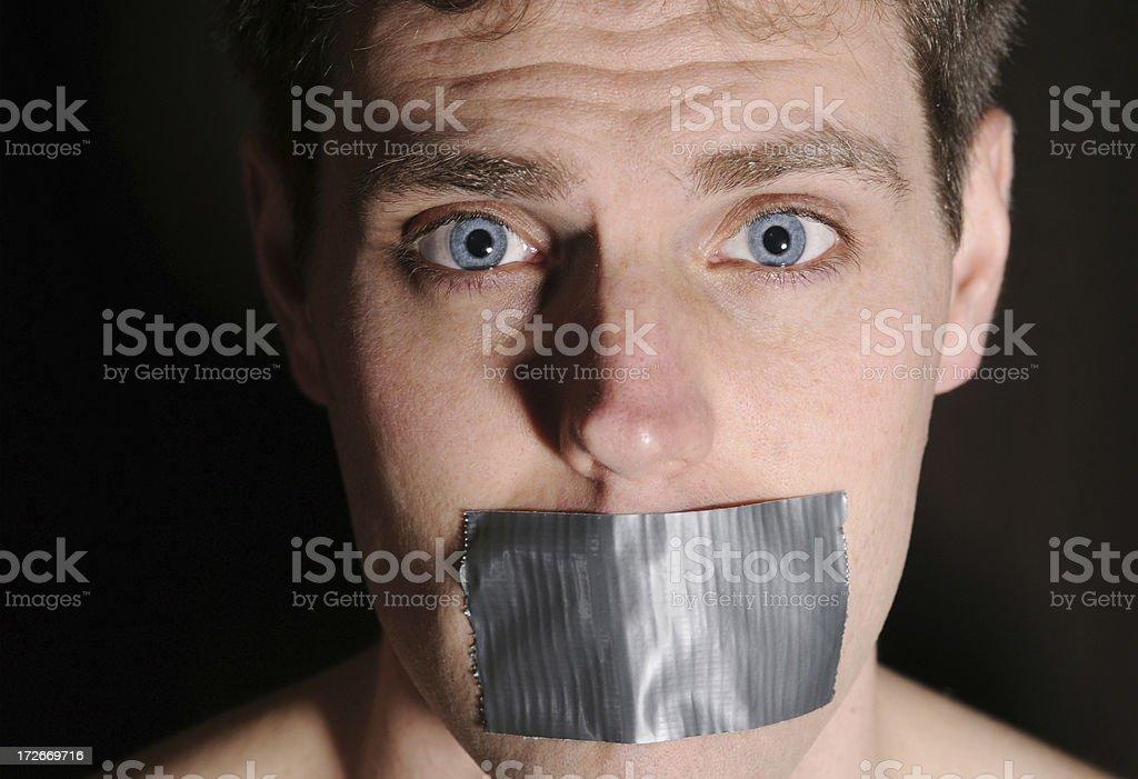 Silenced 3 (Colour) stock photo
