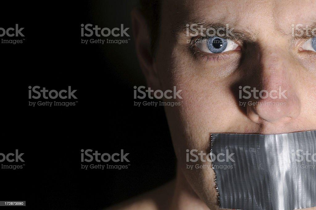 Silenced 4 (Colour) stock photo