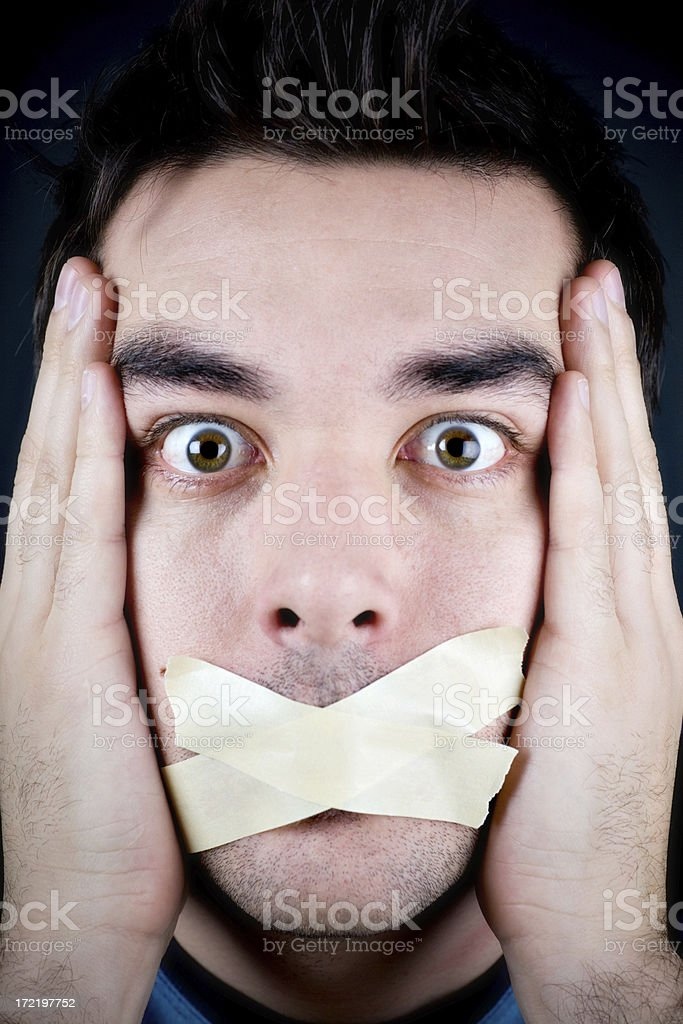 Silenced! stock photo