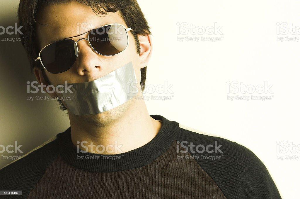 Silenced stock photo