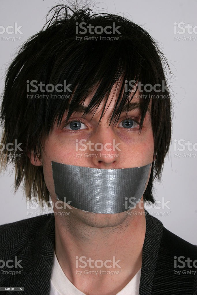Silencing Youth stock photo