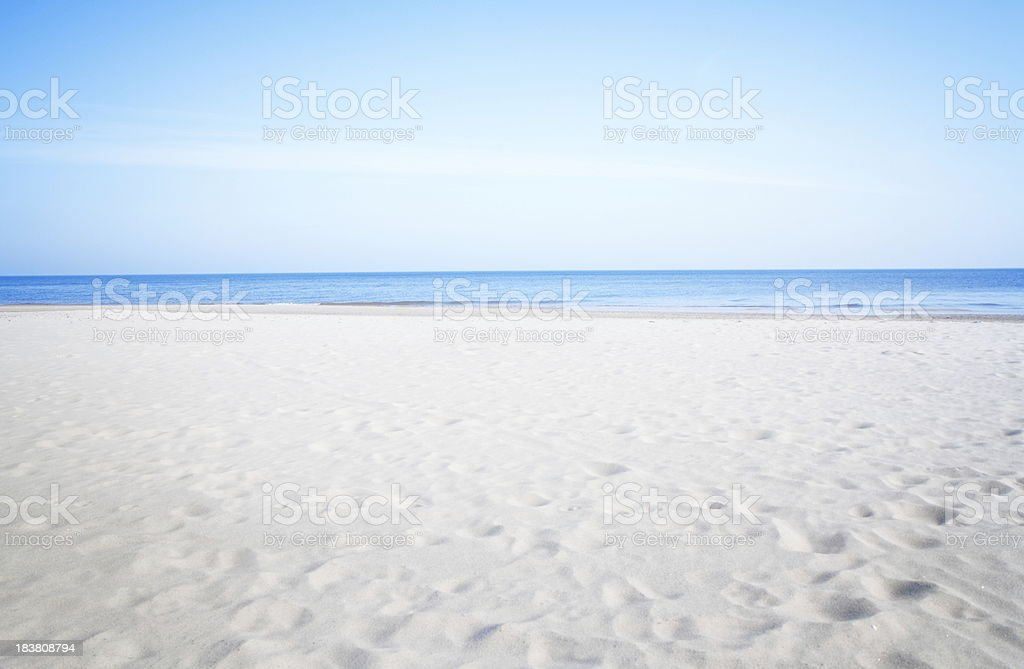 Silent beach at the Baltic Sea royalty-free stock photo