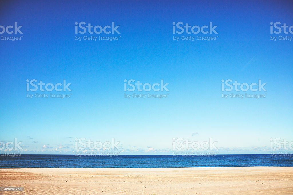 Silent beach at the Baltic Sea stock photo