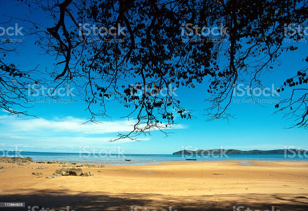 Silent beach stock photo