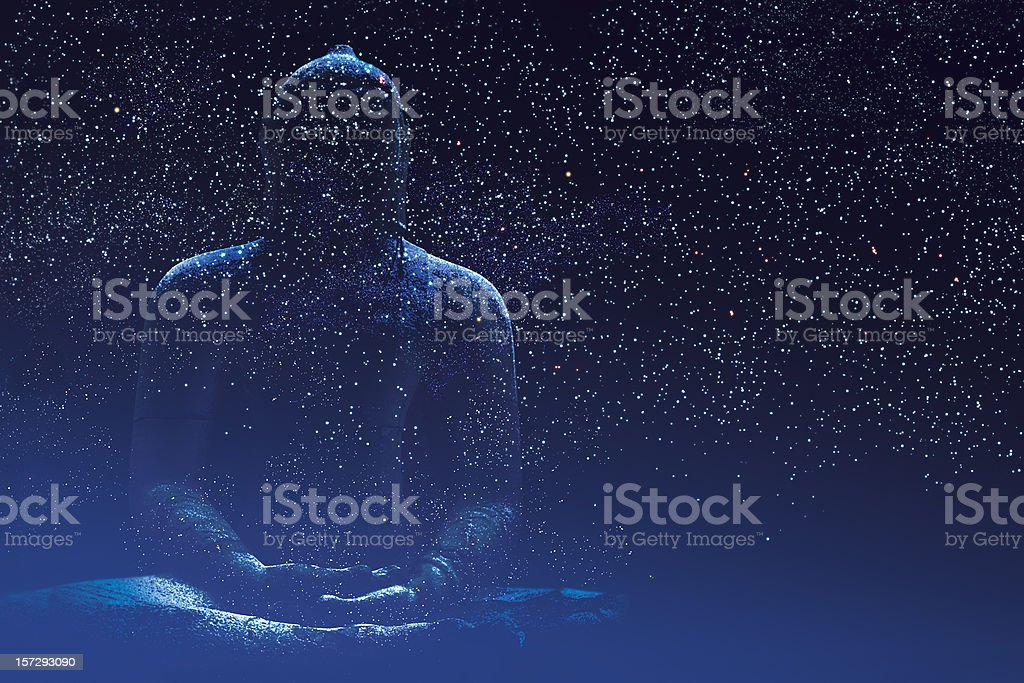 Silent Buddha stock photo