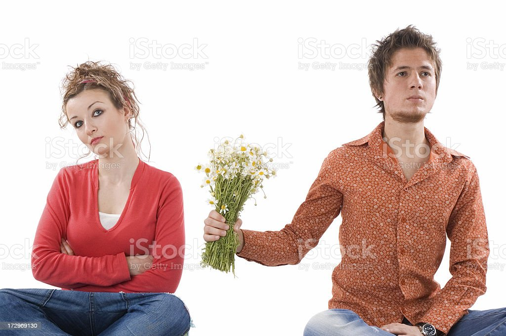 silent fight royalty-free stock photo