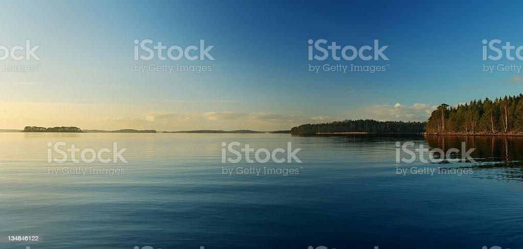 Silent lake royalty-free stock photo