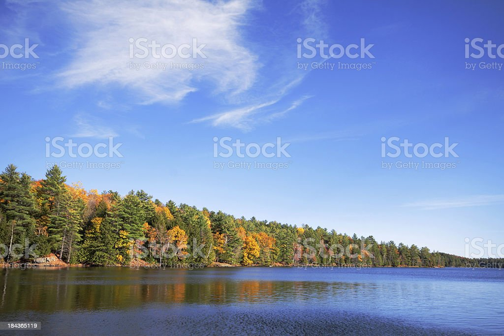 Silent Lake Provincial Park stock photo