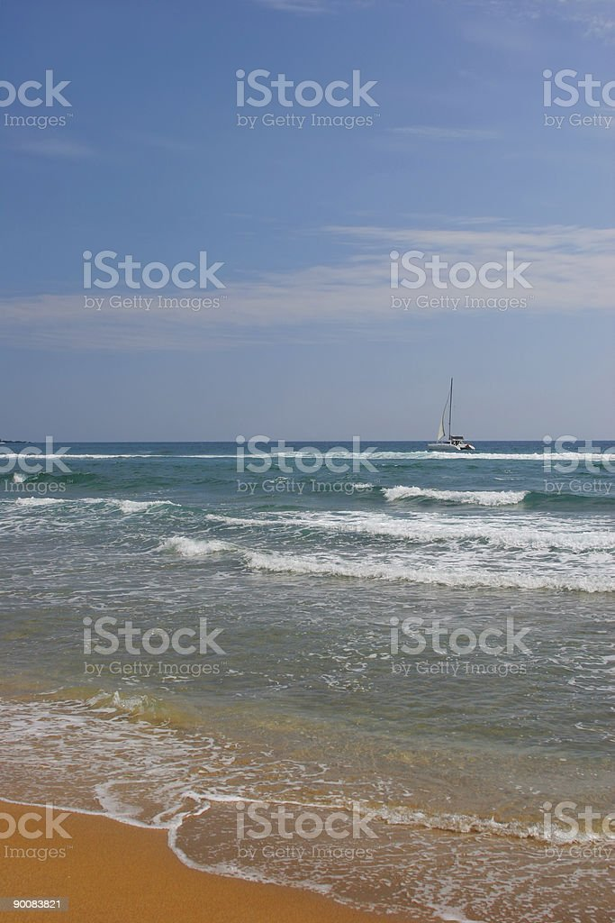 Silent paradise stock photo