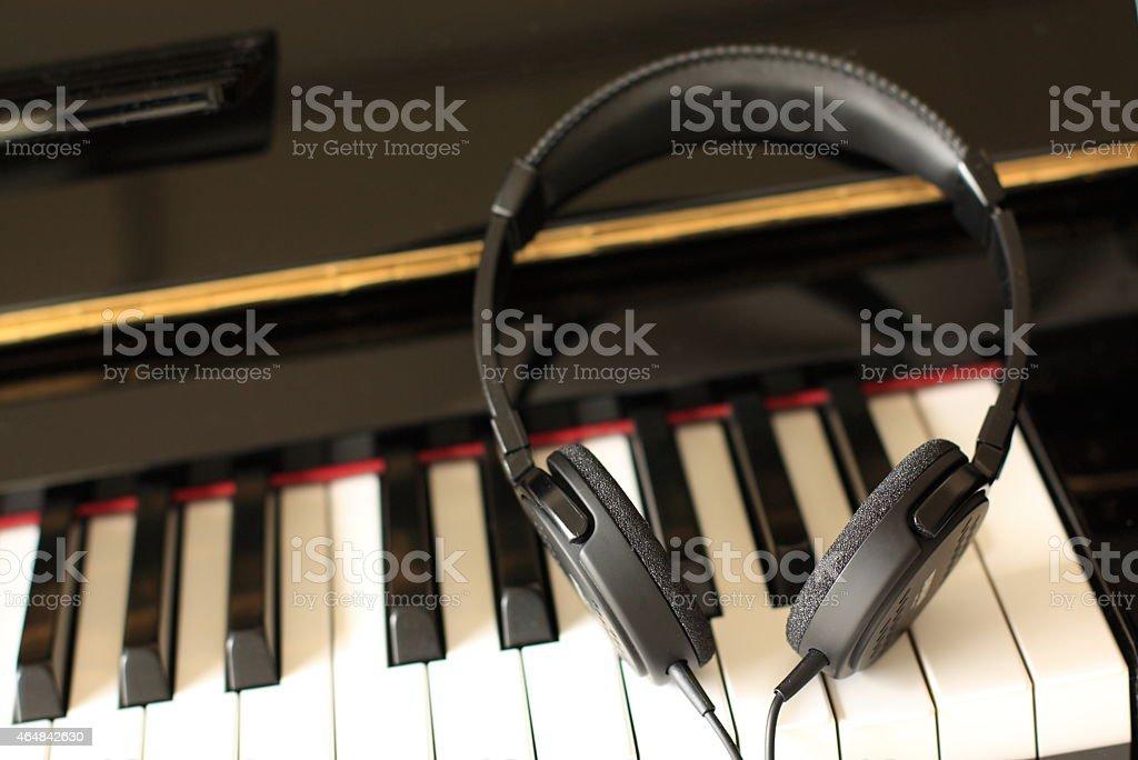 silent piano stock photo