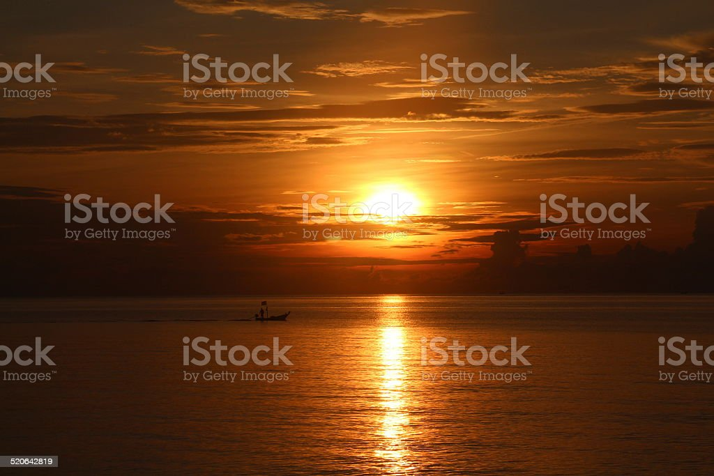 Silent Place in the sunset stock photo
