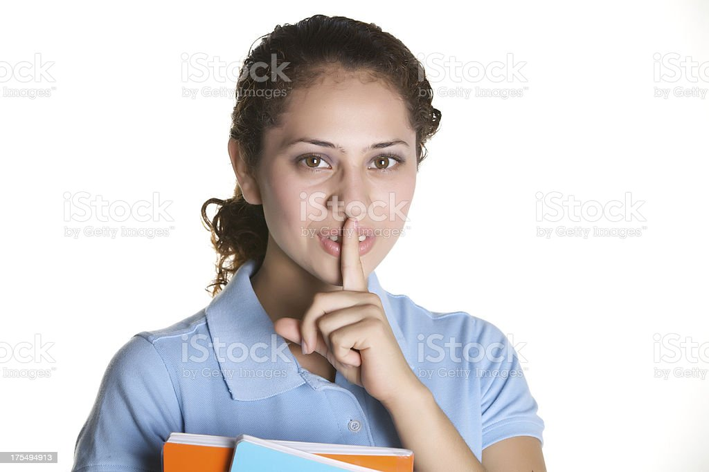 Silent please royalty-free stock photo