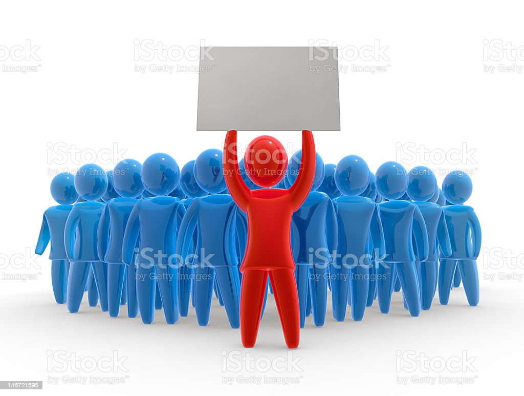 Silent protest royalty-free stock photo
