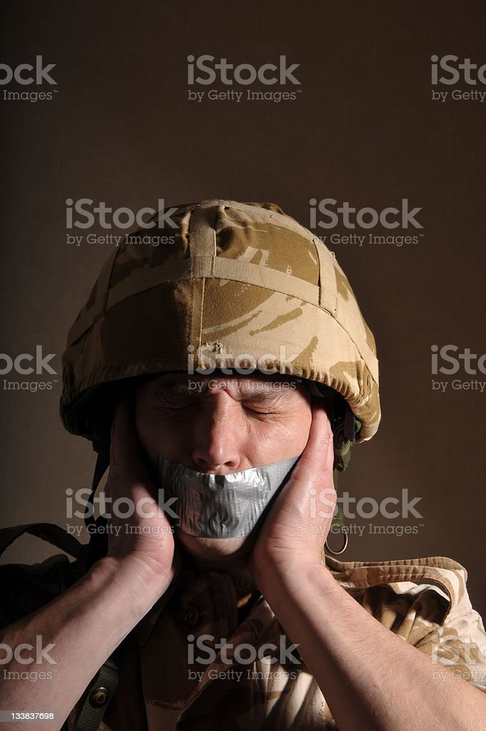 Silent Soldier stock photo