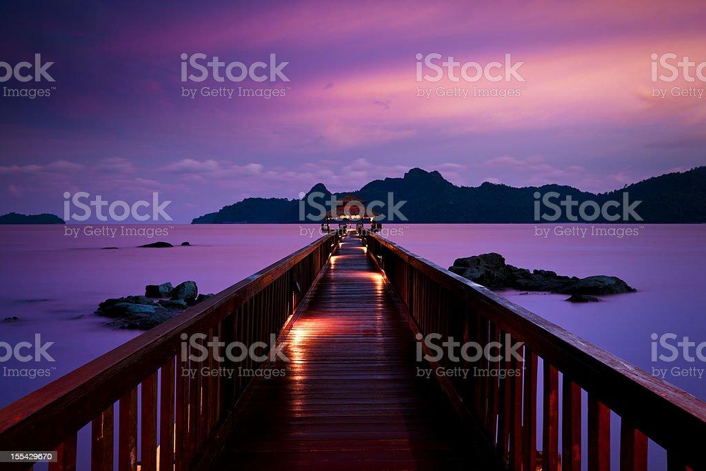silent sunset stock photo