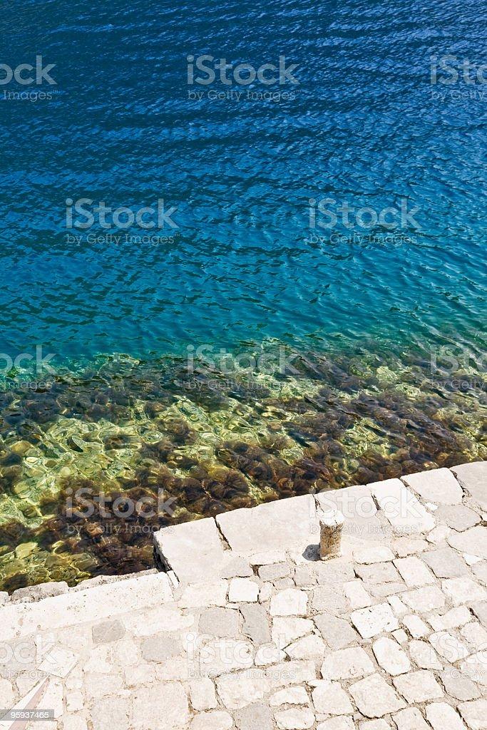 Silent wharf stock photo