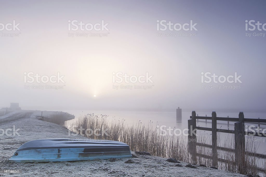 Silent winter morning royalty-free stock photo
