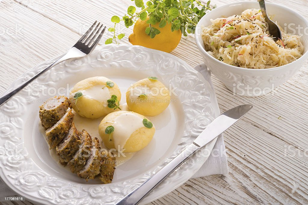 Silesian dumplings royalty-free stock photo