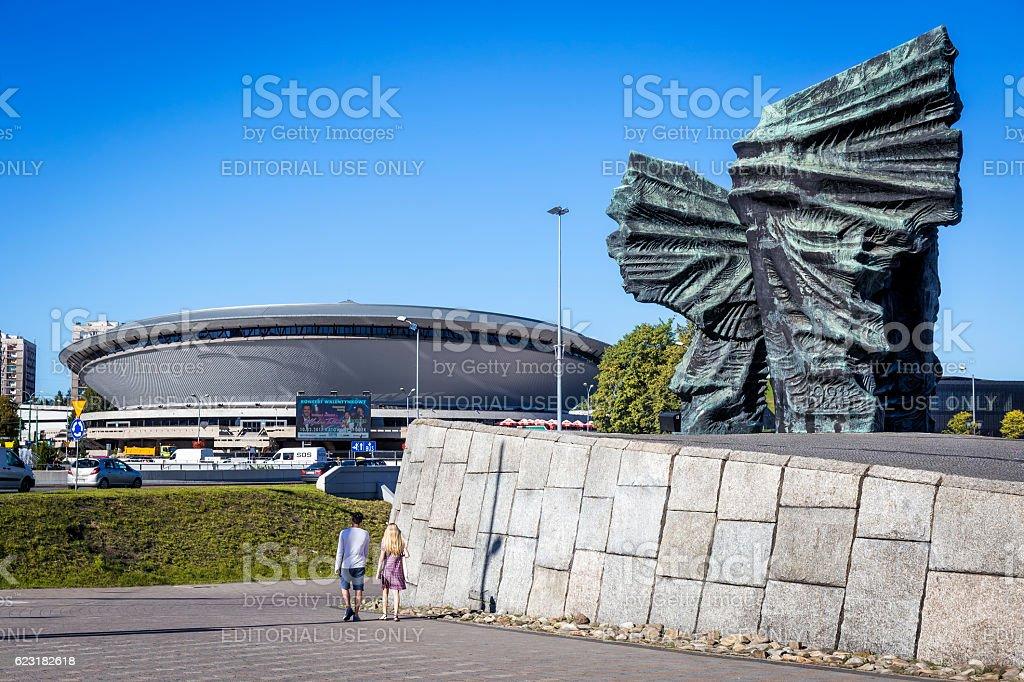 Silesian Insurgents Monument in Katowice, Poland stock photo