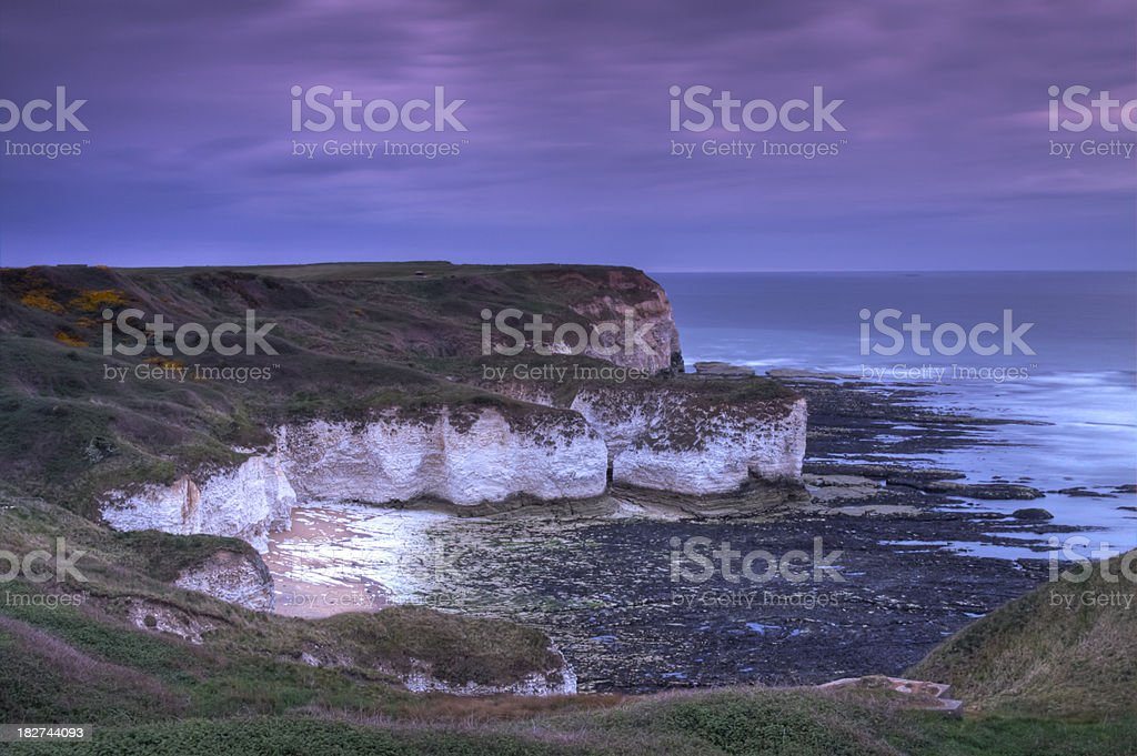 Silex Bay, Flamborough Head, Yorkshire, England. stock photo