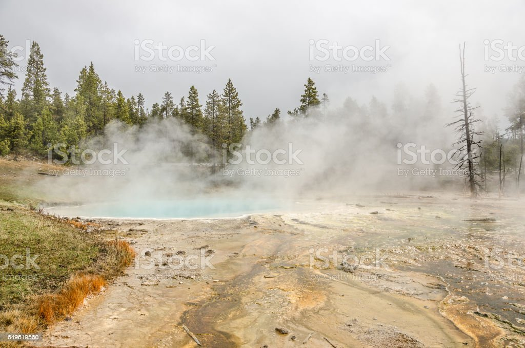 Silex Sprng in Yellowstone stock photo