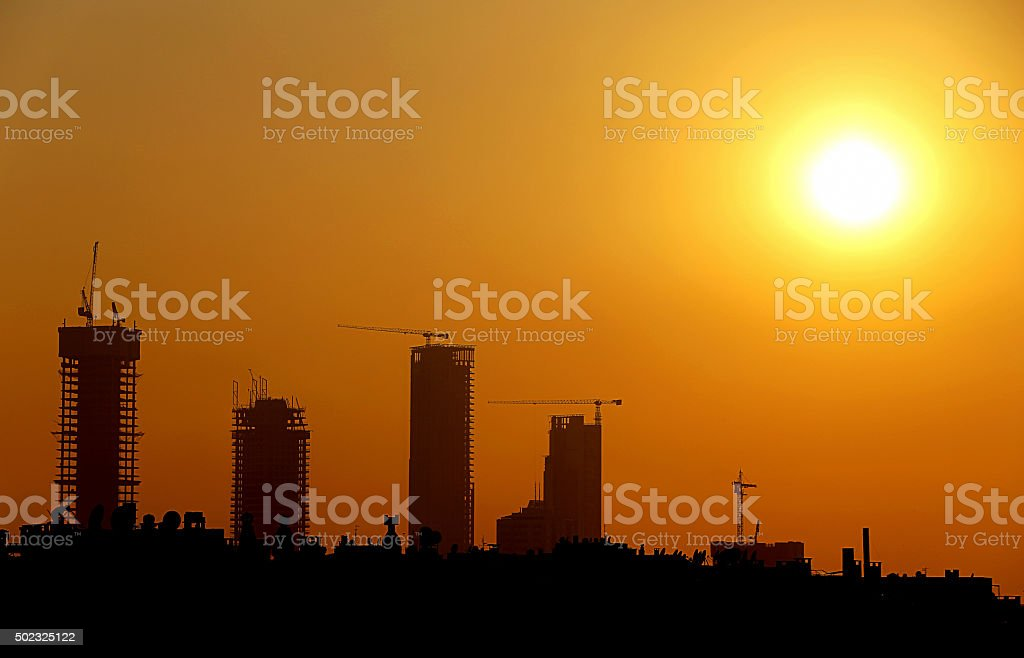 Silhouette at Sunset stock photo