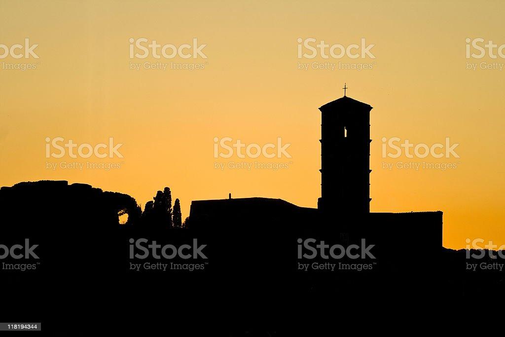 Silhouette Church royalty-free stock photo