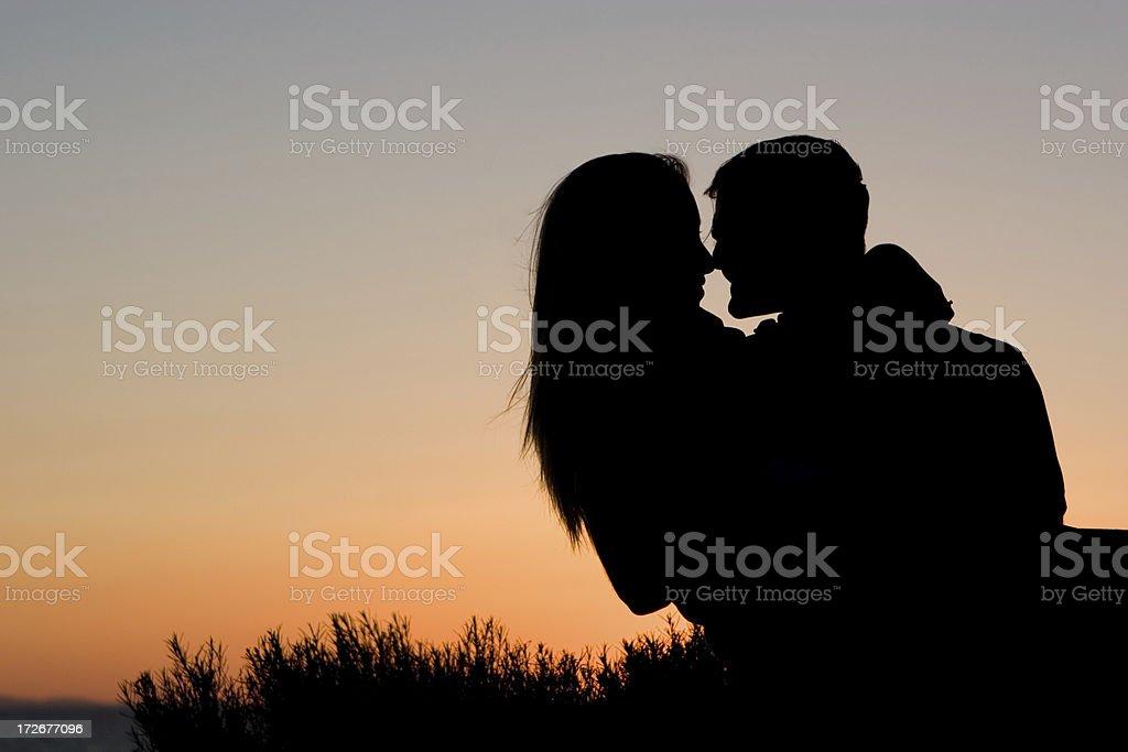 Silhouette Couple stock photo
