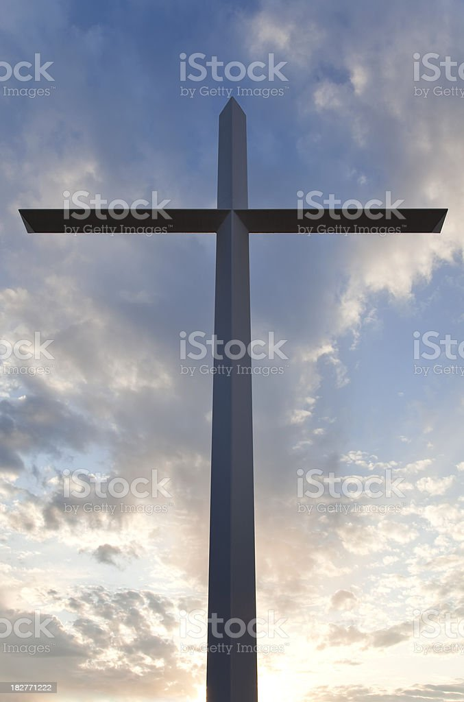 Silhouette Cross royalty-free stock photo