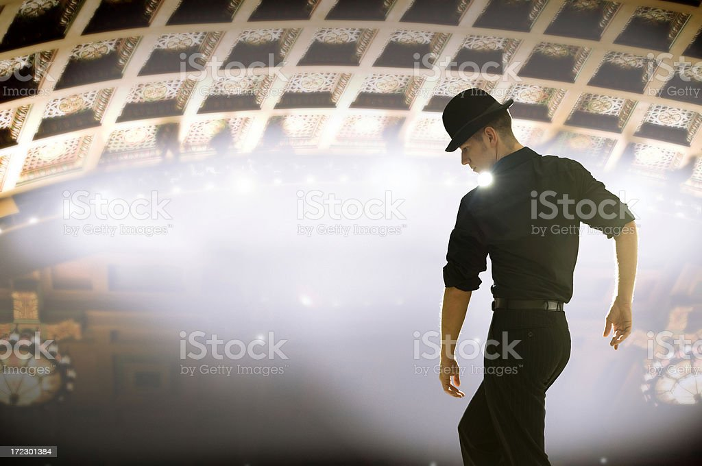 Silhouette Derby royalty-free stock photo