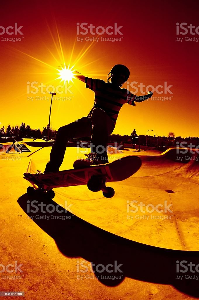 Silhouette Frontside 5 - 0 Grind royalty-free stock photo