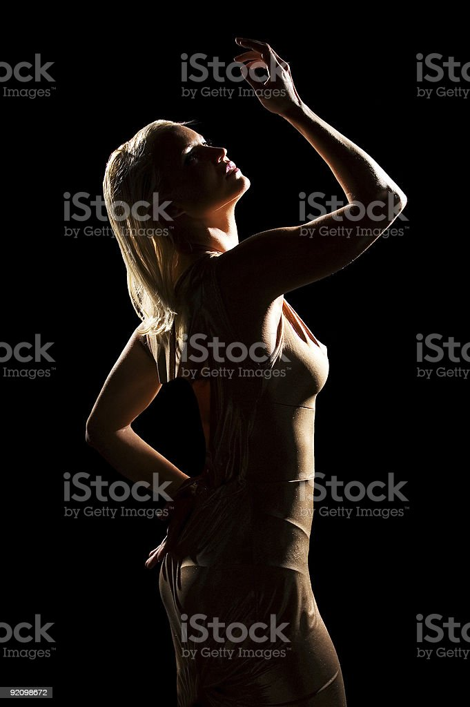 Silhouette Girl royalty-free stock photo