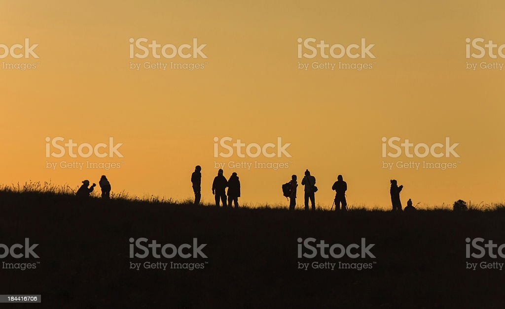Silhouette group of people royalty-free stock photo