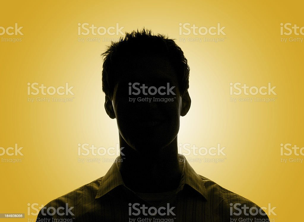 silhouette head two royalty-free stock photo