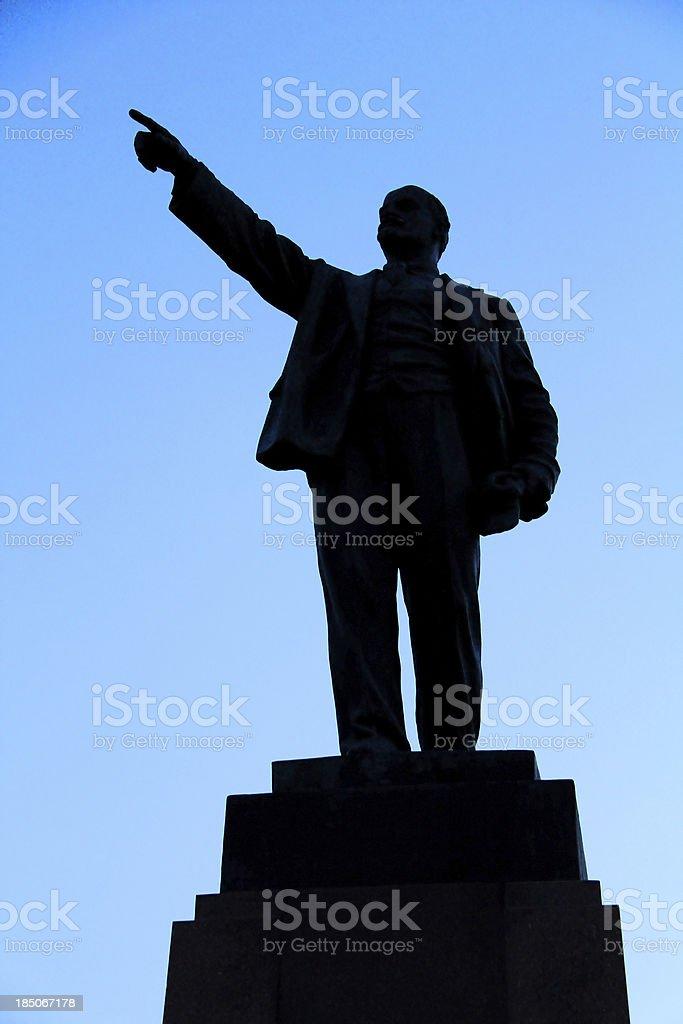 Silhouette Lenin stock photo