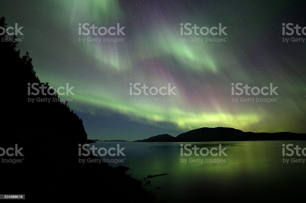 Silhouette Lights stock photo